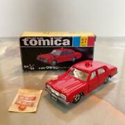Tomica No.27 Toyota Crown Fire Chief Car 1h Wheel Black Box Made In Japan