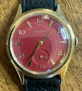 Vintage Benrus Menand039s 1960and039s Watch - 17j Yellow Gold - Restored Menand039s Dial