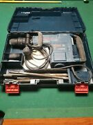 Bosch 11316evs Sds Max Corded Demolition Hammer Drill 14 Amp With Bits In Case