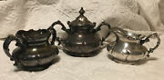 Vintage Pairpoint Silver Creamer And Sugar Set, Quadruple Dipped