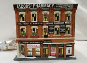 Dept 56 Christmas In The City Jacob's Pharmacy Hard To Find, No Box, Jacob's