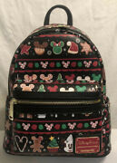 Disney Parks Loungefly Holiday Christmas Snacks Food Icons Backpack 2019