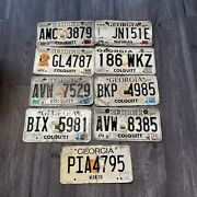 Lot Of 9 License Plates Georgia State Used Condition Expired 2007-2014