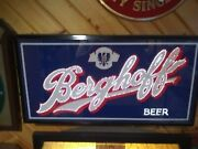 Vintage Berghoff Beer Lighted Beer Sign 1970and039s Very Rare Changes Color