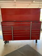 Snap On Snapon Snap-on Kadk72a   72 Andldquo Red Hutch With Door. Nice