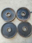 """Vintage Deep Dish 10lb 2"""" Olympic Weight Plates Weights Ben York Used Ivanko"""