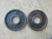 """Vintage Deep Dish 2.5 Lb 2"""" Olympic Weight Plates Weights Ben York Used Ivanko"""