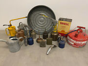 Great Collection Of Antique Oil Cans Dating To 1930's