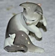 Lladro Cat And Mouse Figurine Vtg. 1984 - 3andrdquo