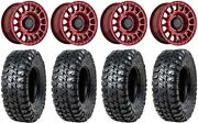 Black Rhino Sandstorm 15 Wheels Red 32 Chicane Rx Tires Rzr Turbo S / Rs1