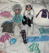Rare Wintertime Wonderland Bratz Dolls Lot Of 2 With Clothing And Accessories