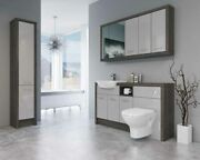 Bathroom Fitted Furniture 1500mm Mali Wenge / Light Grey Gloss Dht6 With Wall And