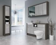 Bathroom Fitted Furniture 1500mm Mali Wenge / Light Grey Gloss Dht7 With Wall And