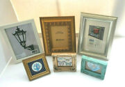 Vintage Wooden Ornate Picture Frames 3 X 3 To 5 X 7 Mixed Colors Lot Of 6