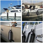 4pcs Boat Dock Fenders Black Center Hole Bumpers Mooring Protection 58x16x16cm