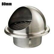 Parts Stainless Round Brushed Air Vent Round Grille Ventilation Cover Wall Outle