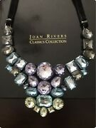 Crystal Bib Necklace. 16andrdquo With 2andrdquo Extender. Cz. Joan Rivers Designer.