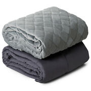 20lbs Bedroom Weighted Blanket Queen/king Size 100 Cotton W/soft Crystal Cover