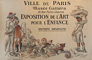 Original 1913 French Art Deco Exhibition Poster For Kids - Willette Horizontal