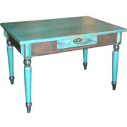 Painted Country Table Russia Late 1800and039s.