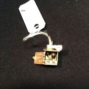 14k Gold Outhouse Charm-opens-says Sam And Lew Inside.