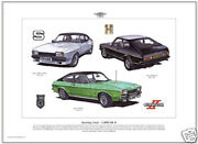 Ford Capri Mk2 Art Print - 3000s And039x-packand039 3000gt /s John Player Special Images