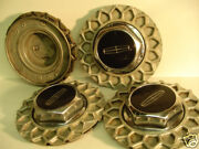 Lincoln Town Car Continental Dogdish Center Caps Hubcaps Wheel Covers Rims