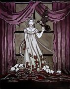 Gothic Lenore With Raven And Skulls Comic Fantasy Art Limited Edition