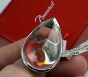 Estate Large Amazing Baccarat Stunning Clear Psydelic Sterling Silver Ring