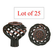 25 Oil Rubbed Bronze Sunflower Birdcage Kitchen Cabinet Knobs Free Shipping