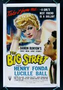 Big Street ✯ Cinemasterpieces 1942 Lucille Ball I Love Lucy Movie Poster