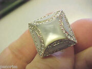 Unusual Diamond And Mother Of Prarl Ring 8 Make Offer