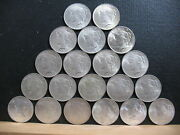Peace Dollars-1 Roll Of Au+ And Choice Unc Dollars. 6