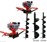 Ranch Yard Post Fencing Planting Soil Hole Digger Epa W/10 + 6 Auger Bits