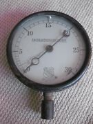 Vintage American Radiator Company Gauge 1910 Ashcroft Made In Usa Antique