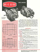 Vintage And Very Rare 1960 West Bend 580 Go-kart Engine Specifications Sheet