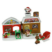 Fisher Price Little People A Visit From Santa Christmas Reindeer Sleigh New Set