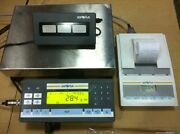 Sartorius Qc15dce-s Scale With Printer Ydp03-oce And Yrd14z Checkweighing Display