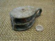 Vintage Cast Iron Pulley Farm Antique Old Tools Implement Tractor Shabby 6463