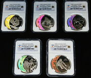 2007 Canada Hologram Coins, 5 Silver 25 Ngc Pr-69 Set, Olympic Royal Mint