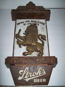 Vintage Strohs Beer Wall Sign From One Beer Lover To Another Lion Lighted Resin