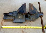 1912 Millers Falls Railroad Vise Bench Stationary Front Jaw Giant Dovetail Slide