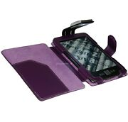 Purple Case Cover And Light For Kindle 4 Gen With Led Night Reading Lamp