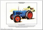 Fordson Major Roadless Tractor - Agricultural Fine Art Print A4 Size - 1952-57