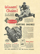 Vintage And Very Rare 1960 West Bend 580 And 700 Winners Choice Go-kart Engine Ad