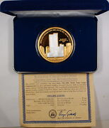 World Trade Center 5th Anniversary Gold And Silver Commemorative Giant Medal 5.5oz