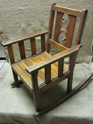 Vintage Childs Wooden Rocking Chair Antique Old Stool Parlor Chairs Nice 7169
