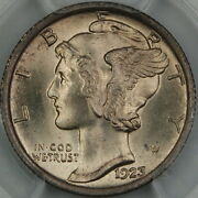 1923 Mercury Silver Dime Pcgs Ms-66 Fb Full Bands Better Coin
