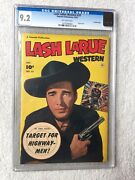 Lash Larue 33 Cgc 9.2 Off-white Pages Oct 1952 Photo Cover Crowley Copy Western