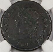 1811 Classic Head Large Cent Ngc Xf Details S-287 Environmental Damage Dgh